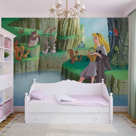 Disney Sleeping Beauty - Woodland Friends - Vlies Non-Woven Mural Carta da parati decorativa