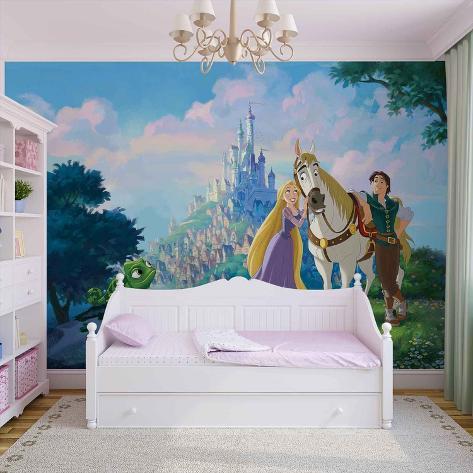 Disney Tangled - Rapunzel and Flynn - Vlies Non-Woven Mural Vlies Wallpaper Mural