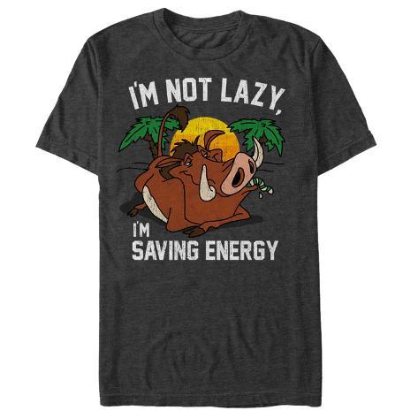 Disney: The Lion King- Pumbaa Saving Energy Camiseta