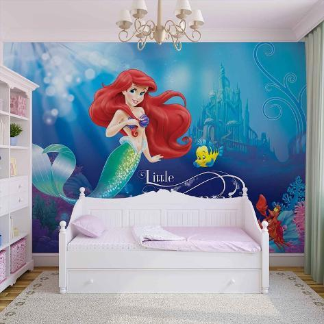 Disney The Little Mermaid - Ariel & Flounder - Vlies Non-Woven Mural Vlies Wallpaper Mural