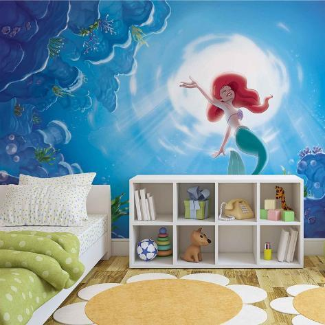 Disney The Little Mermaid - Ariel Swimming - Vlies Non-Woven Mural Vlies Wallpaper Mural