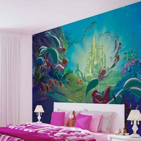 Disney The Little Mermaid - Atlantica - Vlies Non-Woven Mural Vlies Wallpaper Mural