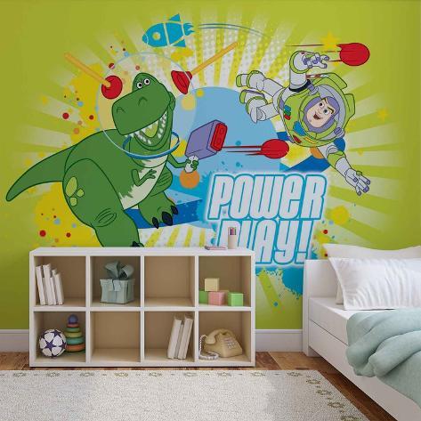 Disney Toy Story - Buzz and Rex - Vlies Non-Woven Mural Vlies Wallpaper Mural
