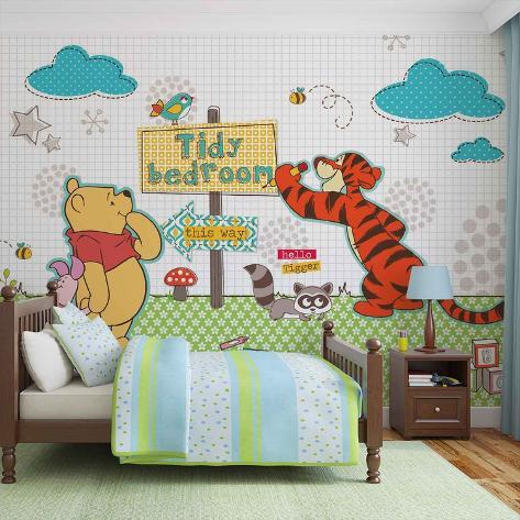 Disney Winnie The Pooh Tidy Bedroom Vlies Non Woven