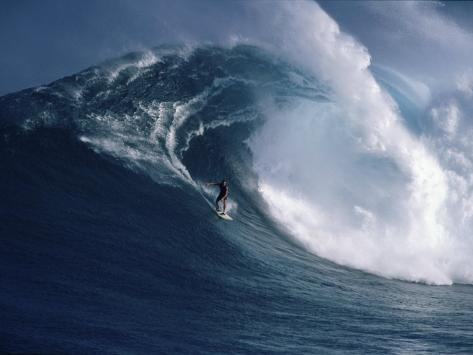 Distant Surfer Photographic Print