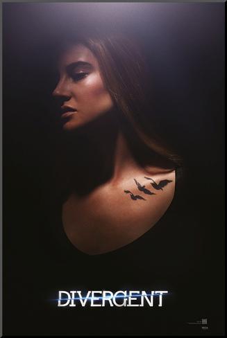 Divergent - Tris Mounted Print