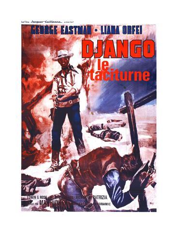 Django Kills Softly, (aka Bill Il Taciturno), French Poster Art, George Eastman, 1968 Gicléetryck