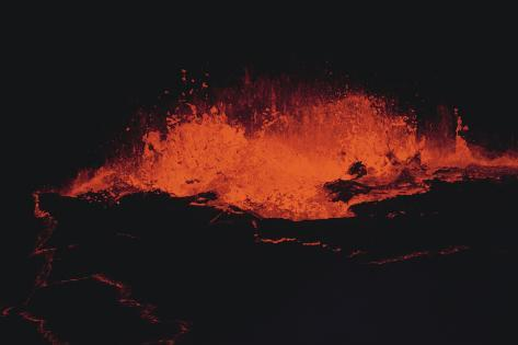 Hot Lava Flowing Photographic Print