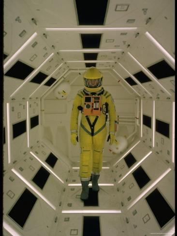 Actor Gary Lockwood in Space Suit in Scene from Motion Picture