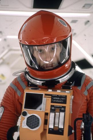Actor Keir Dullea in Space Suit in Scene from Motion Picture