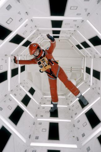 Actor Keir Dullea Wearing Space Suit in Scene from Motion Picture