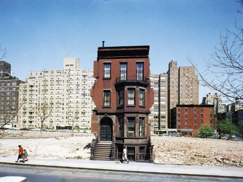 Construction in NYC: Land Being Cleared For 20 Story Building in East 60s Photographic Print