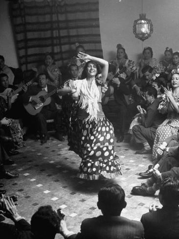 Gypsy Dancer Performing Photographic Print
