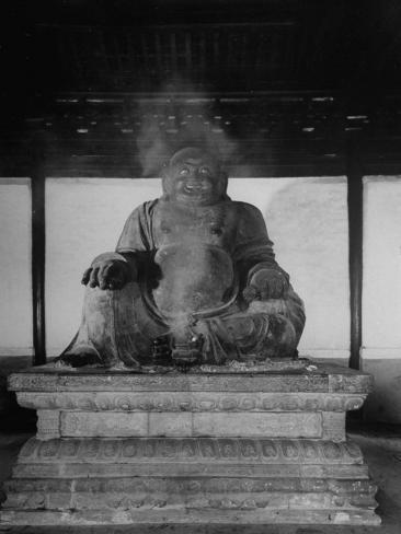 The Buddha of the Temple of Azure Clouds Photographic Print