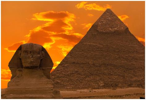 the sphinx and great pyramid egypt poster by dmitry pogodin at
