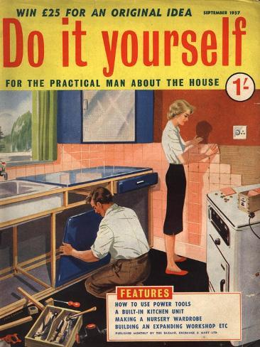 Do it yourself diy kitchens magazine uk 1950 giclee print do it yourself diy kitchens magazine uk 1950 solutioingenieria Image collections