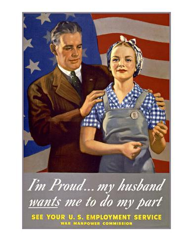 Do My Part, U.S. Labor Poster Giclee Print