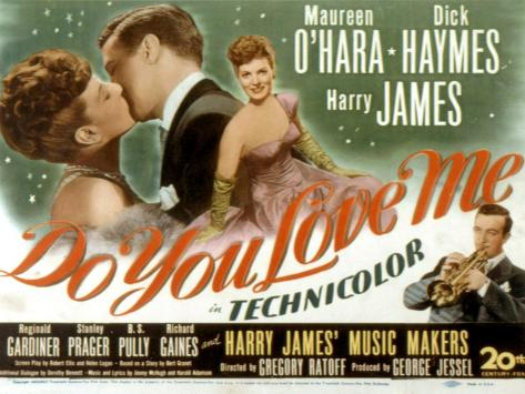 Do You Love Me, Maureen O'Hara, Dick Haymes, Harry James, 1946 Fotografía