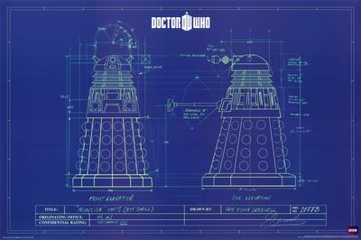 Doctor who dalek blue prints print at for What size paper are blueprints printed on