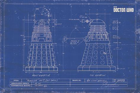Doctor who dalek blueprint posters allposters doctor who dalek blueprint malvernweather Image collections