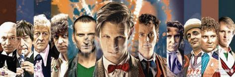 Doctor Who Doctors Collage Panorama Poster
