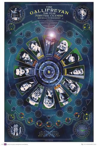 Doctor Who - Galifreyan Calendar Poster