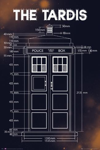 doctor who tardis plans print allposters ca