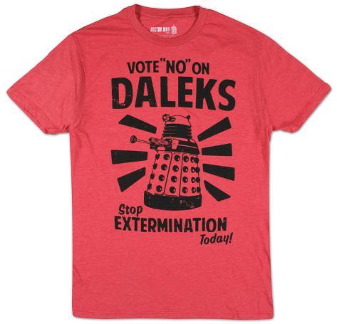 17581ddd7 Doctor Who - Vote No On Daleks Camisetas na AllPosters.com.br
