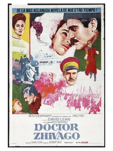 Doctor Zhivago, Spanish Movie Poster, 1965 Impressão artística