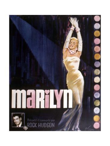 Documentaire Marilyn De Rock Hudson Art Print