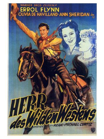 Dodge City, German Movie Poster, 1939 アートプリント