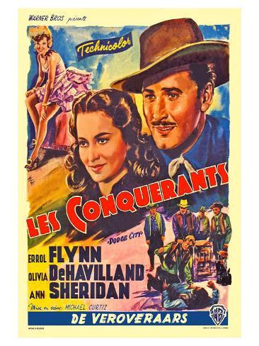 Dodge City, Spanish Movie Poster, 1939 Art Print