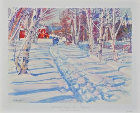 Landscape in Winter Collectable Print