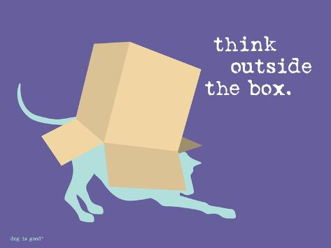 Think Outside Box Stampa artistica