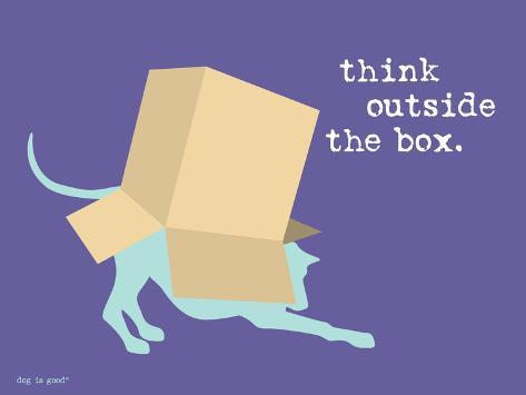 Think Outside Box Stampa artistica