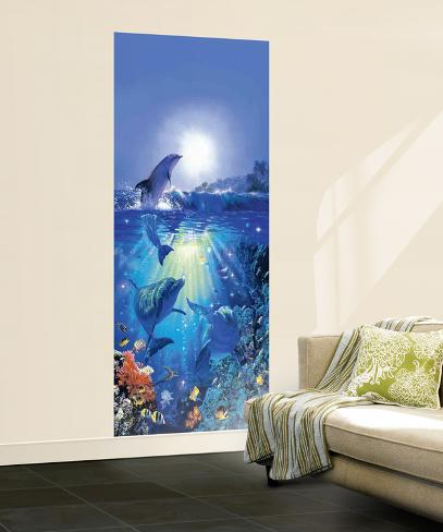Dolphin in the Sun Mural Wallpaper Mural