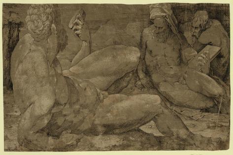 Three Male Figures, Between 1500 and 1550 Lámina giclée
