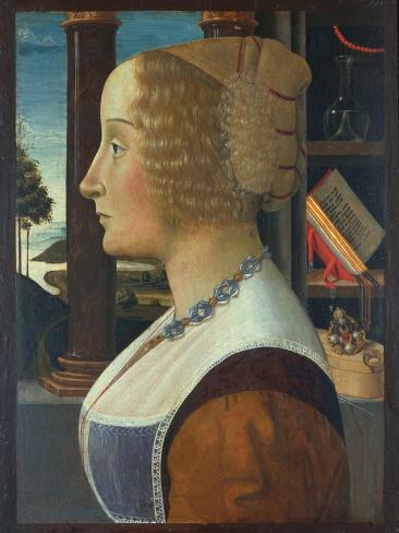 Portrait of a Woman, C.1490 Impressão giclée
