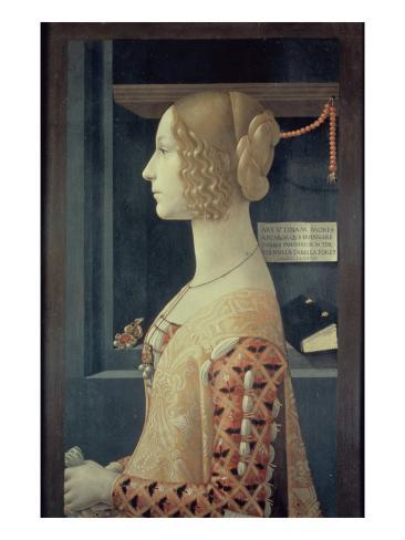 Portrait of Giovanna Tornabuoni Giclee Print