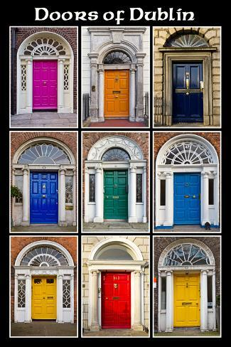 The Old Georgian Doors Of Dublin Art Print