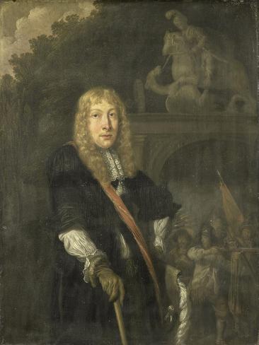 Portrait of an Officer of the Leiden Civic Guard Art Print