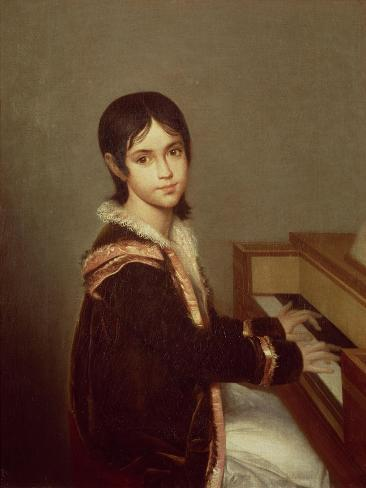 The Artist's Daughter at the Piano Giclee Print