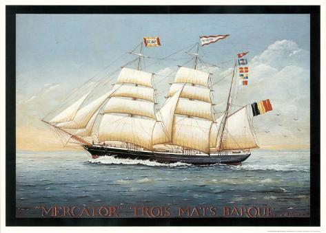 Mercator Trois Mats Barque Art Print