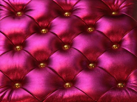 Purple Luxurious Chair Background with Golden Pins Photographic Print