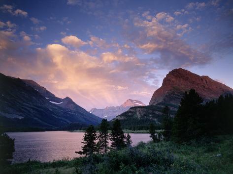 Sunrise Over Landscape, Glacier National Park, MT Photographic Print
