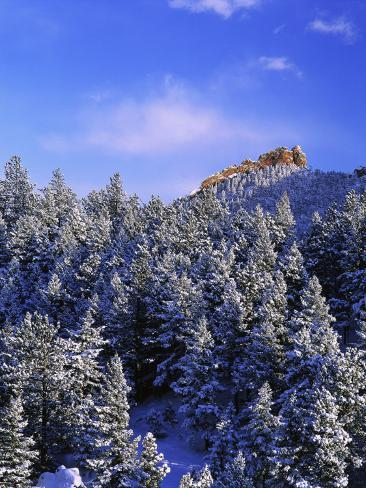 Winter Snow in the Flatirons Boulder, CO Photographic Print