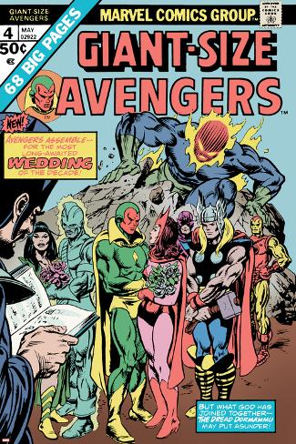 Giant-Size Avengers No.4 Cover: Vision, Scarlet Witch, Thor, Iron Man and Dormammu Poster