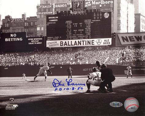 Don Larsen 'PG 10-8-56' First Pitch Autographed Photo (Hand Signed Collectable) Photo