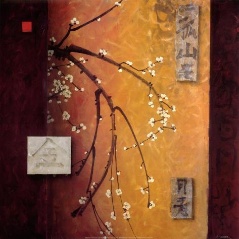 Oriental Blossoms II Art Print