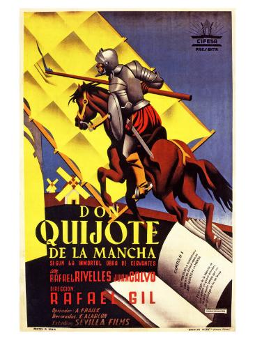 Don Quixote, Spanish Movie Poster, 1934 アートプリント